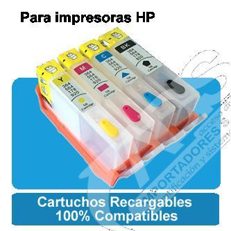 4 Cartuchos Recargables Hp 670 920 564 4625 B210 240ml Tinta