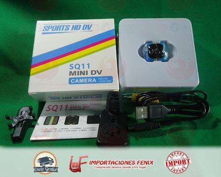 Sq11 Mini Cámara 1080p Hd Visión Nocturna, bateria recarbable lition