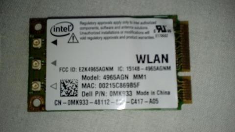 Tarjeta de red Intel 4965AGN
