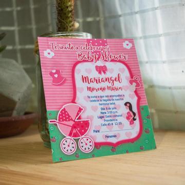 Tarjetas de invitación Baby shower, Cumpleaños, grado, etc