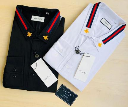 Camisa Gucci Negro Y Blanco Top Quality