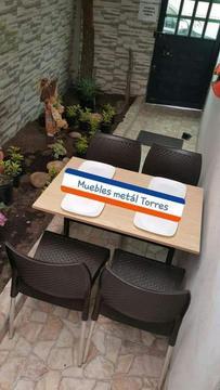 Sillas Y Mesas para Restaurante Pizza