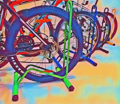 Soporte Bicicletas Piso Practico Poco Espacio Rin 29
