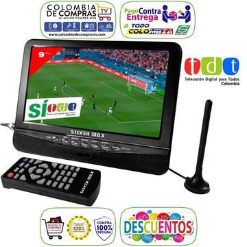 Televisor Con TDT Portátil 9 Pulgadas Monitor Recargable Silver Max, Nuevos, Originales, Garantizados