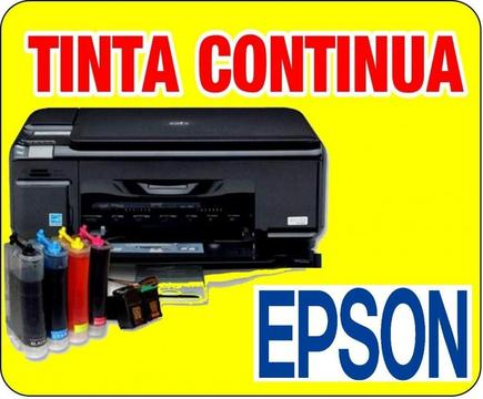 Tinta ORIGINAL EPSON O HP 4 Tarros DE 100 Ml Impresora Continua Epson o hp