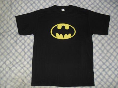 Camiseta negra batman superheroes tallas m, l, xl hombre