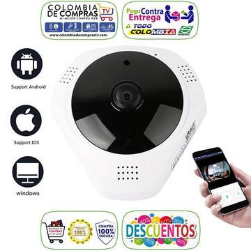 Cámara Vigilancia Plafon Ip Wifi Ojo de Pez 360º FHD, Nuevos, Originales, Garantizados