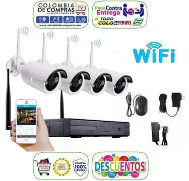 Kit 4 Cámaras Seguridad Hd Decodificador Video 1080p Nuevos, Originales, Garantizados