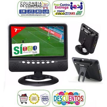 Televisor Con Tdt Portátil 7 Pulgadas Recargable, Nuevos, Originales, Garantizados