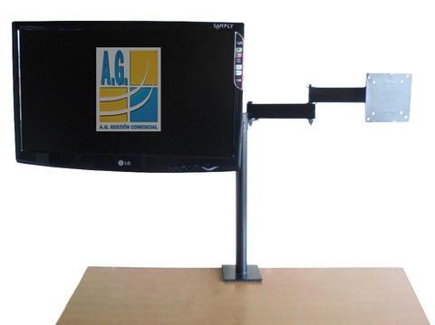Soporte doble para monitor de escritorio de 14 a 26