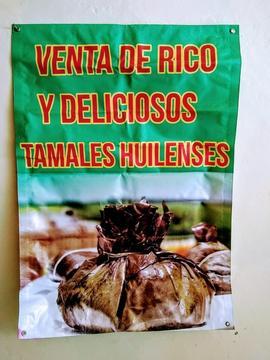 Aviso de venta de Tamales