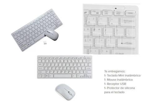 Combo Mini Teclado Y Mouse Inalámbricos Blanco