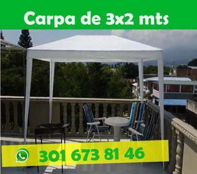 Carpa Impermeable 3x2 Blanca Negocios