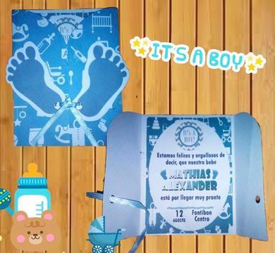 invitaciones para baby shower Niño