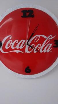 reloj de pared coca cola, decoracion restaurante, bar, negocio, casa, afiche publicidad