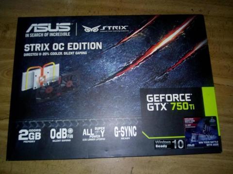 Tarjeta Grafica GTX 750 ti strix oc 2GB