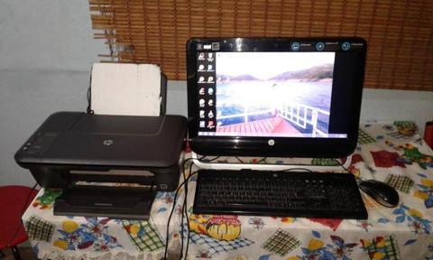 Computador e impresora marca hp