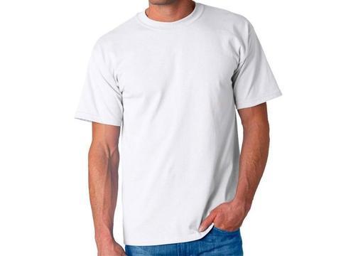 Camisetas Cuello Redondo Blancas En Algodón 180 Gramos