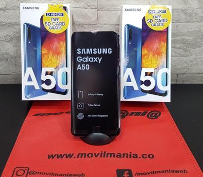 Samsung A50 64Gb nuevos con garantia microSD 64gb domicilios sin costo en  Movil Mania