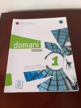 Vendo Libro Domani 1 para aprender el idioma Italiano Nuevo !!!