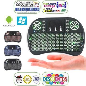 Mini Teclado Inalámbrico con Mouse Integrado Para Smart TV, Pcs, Smartphone, Televisores, Consolas, Nuevos